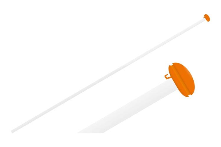 Gevel vlaggenstok complete set