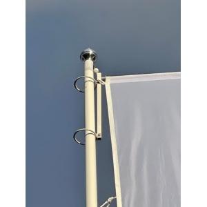 Polyester vlaggenmast met hijsbare banieruithouder