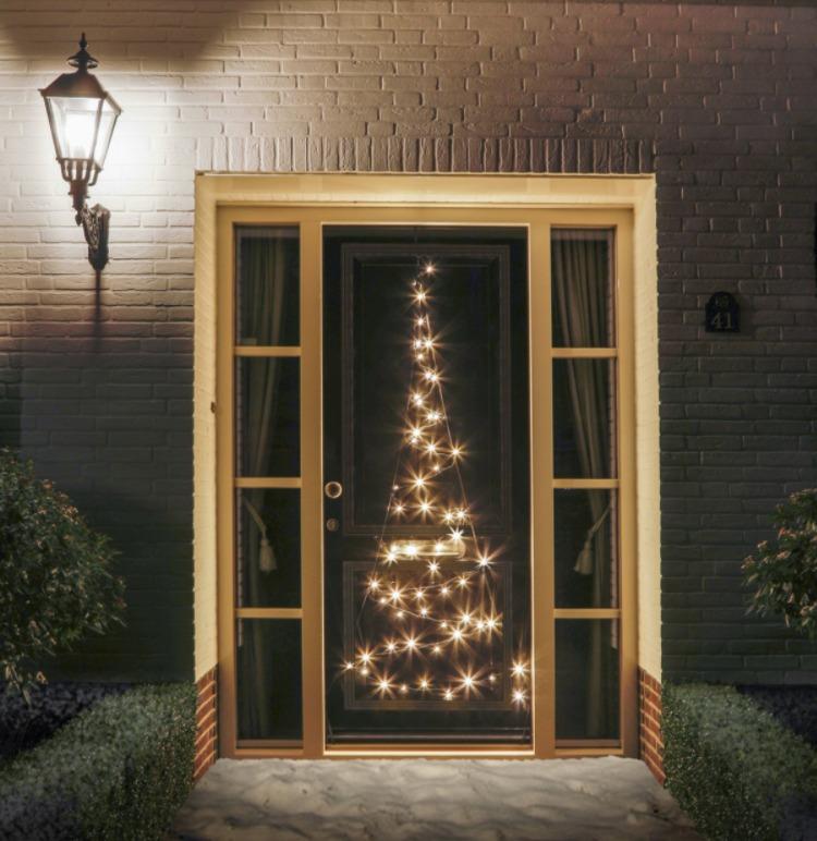 Fairybell op deur 120 LED's warm licht