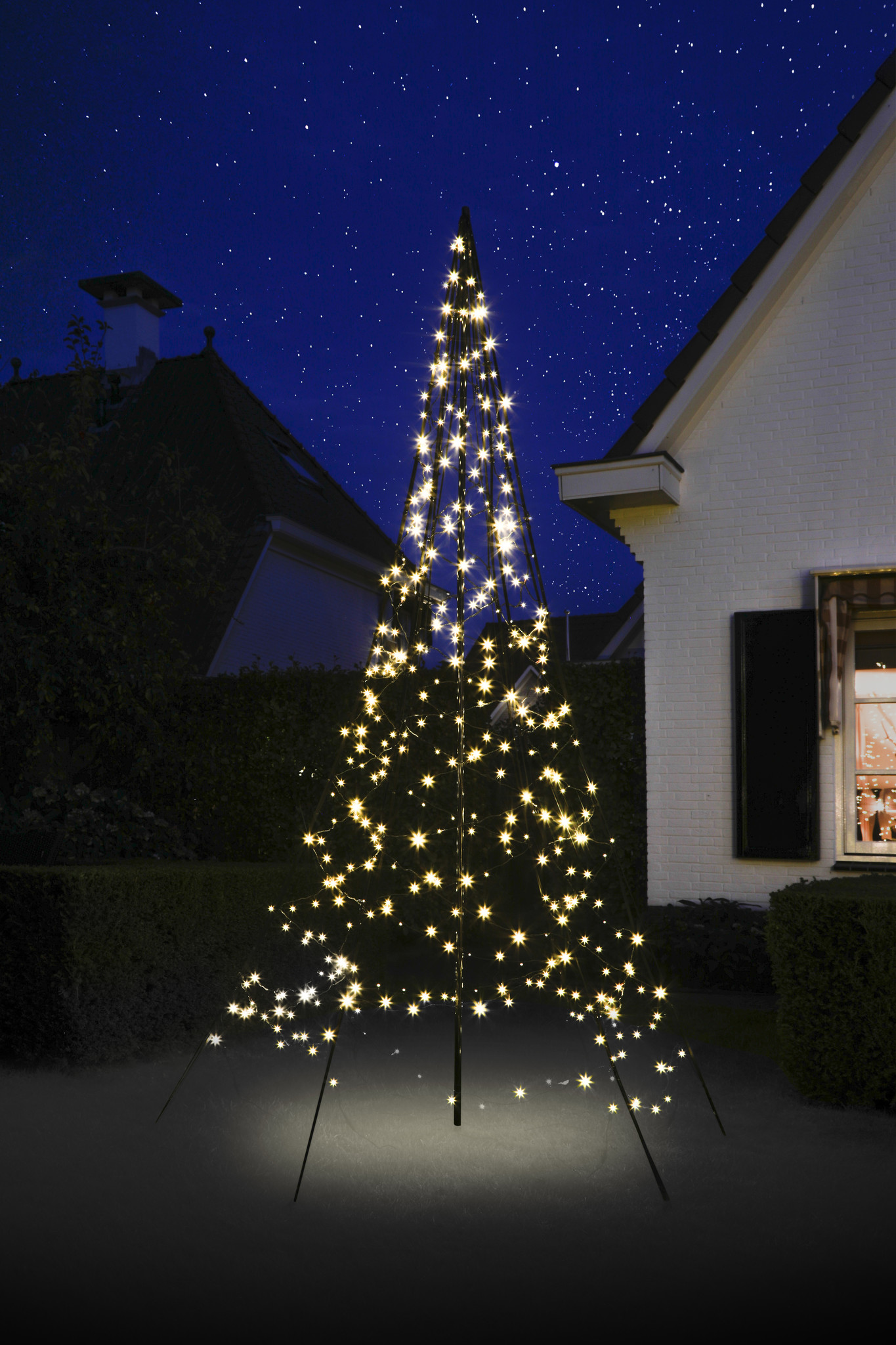 Fairybell met deelbare mast 3 meter - 480 LED Warm Wit